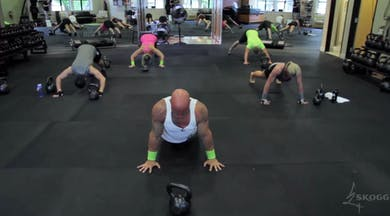 Push Ups and KB. High Intensity Strength. Single KB. by Skogg Gym