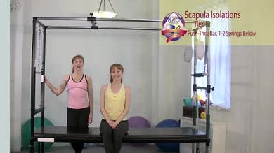 Scapula Isolations Springs from Below by Pilates on Fifth