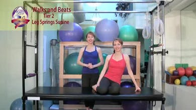 Legs Supine 2 Walks and Beats by Pilates on Fifth