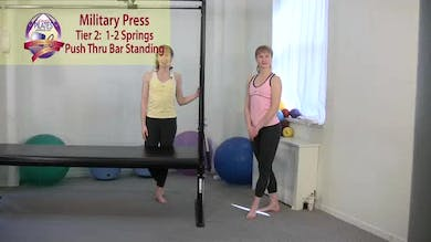 Military Press with Push Thru Bar by Pilates on Fifth