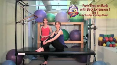 Push Thru on Back with Back Extension 1 by Pilates on Fifth