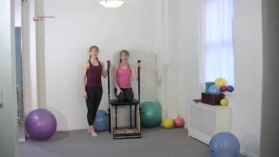 Instant Access to Knee Raises with Obliques by Pilates on Fifth, powered by Intelivideo