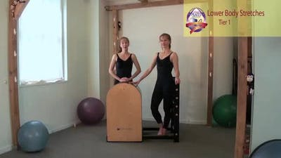 Lower Body Stretches on the Ladder Barrel by Pilates on Fifth