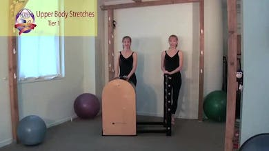 Upper Body Stretches on the Ladder Barrel by Pilates on Fifth