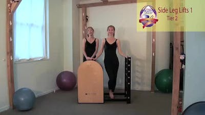 Side Leg Lift Series 1 on the Ladder Barrel by Pilates on Fifth