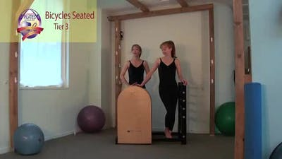 Instant Access to Bicycles Seated on the Ladder Barrel by Pilates on Fifth, powered by Intelivideo