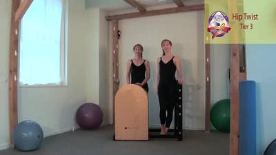 Hip Twist on the Ladder Barrel by Pilates on Fifth