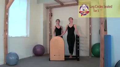 Leg Circles Seated on the Ladder Barrel by Pilates on Fifth