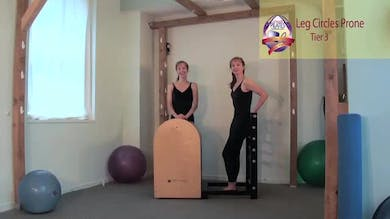 Leg Circles Prone on the Ladder Barrel by Pilates on Fifth