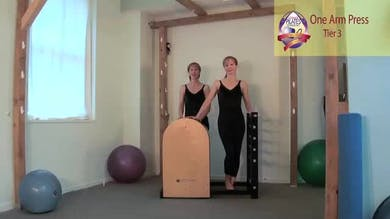 One Arm Press on the Ladder Barrel by Pilates on Fifth