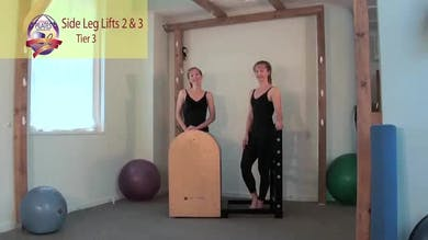 Side Leg Lift Series 2 and 3 on the Ladder Barrel by Pilates on Fifth