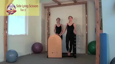 Side Lying Scissors on the Ladder Barrel by Pilates on Fifth