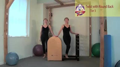 Twist with Round Back on the Ladder Barrel by Pilates on Fifth