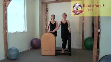 Rotation Prone 3 on the Ladder Barrel by Pilates on Fifth
