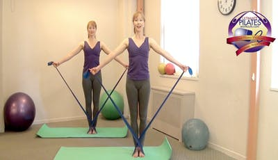 Standing Stretch Band Workout by Pilates on Fifth