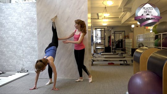 Instant Access to Wall Stretches Workout by Pilates on Fifth, powered by Intelivideo