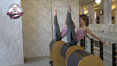 Ladder Barrel Rotisserie Workout by Pilates on Fifth