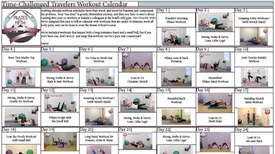 Po5o Time Challenged Travelers Workout Calendar.pdf by Pilates on Fifth