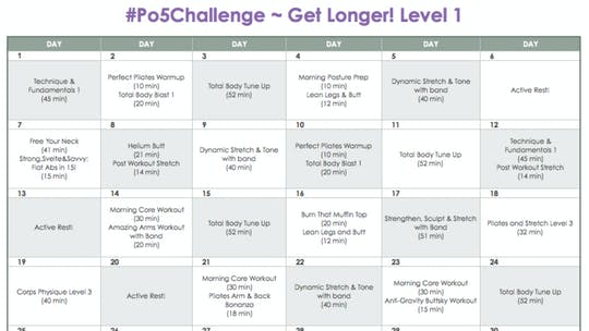 Instant Access to Level 1 Longer - #Po5Challenge by Pilates on Fifth, powered by Intelivideo