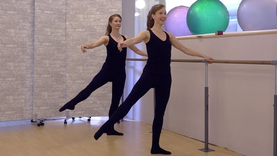 Instant Access to My First Ballet Barre Exercises Only by Pilates on Fifth, powered by Intelivideo