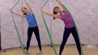 Long Band Workout for Posture, Arms and Waist 1 by Pilates on Fifth