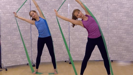 Instant Access to Long Band Workout for Posture, Arms and Waist 1 by Pilates on Fifth, powered by Intelivideo