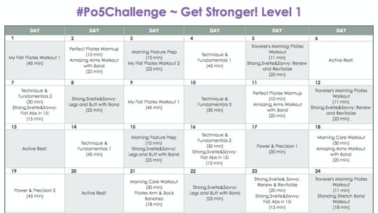 Instant Access to Level 1 Stronger - #Po5Challenge by Pilates on Fifth, powered by Intelivideo