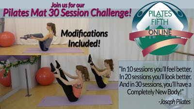 Pilates Full Mat Repertoire, EXPRESSLY for a 30 Day Challenge! by Pilates on Fifth