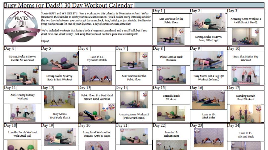 Po5o Busy Moms Dads Workout Calendarpdf