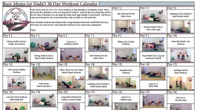 Po5o Busy Moms Dads Workout Calendar.pdf by Pilates on Fifth