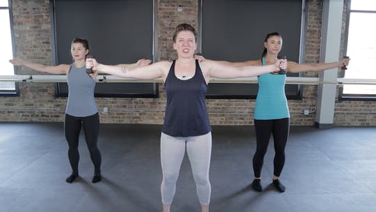Instant Access to Upper Body 4 - Lateral Shoulder Scorcher by The Barre Code, powered by Intelivideo