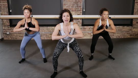 Instant Access to TBC Lower Body 3 - Squat it Like it's Hot by The Barre Code, powered by Intelivideo