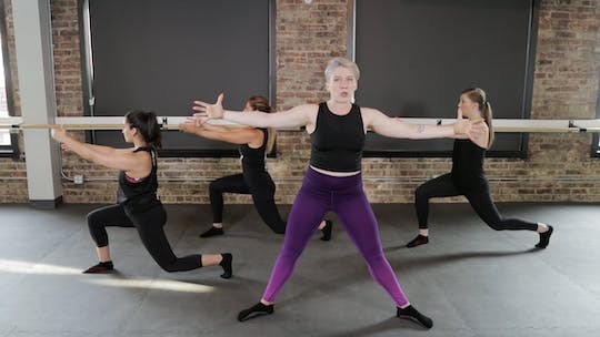 Instant Access to TBC Lower Body 4 - Plyo, Squat, Lunge, & Curtsey by The Barre Code, powered by Intelivideo