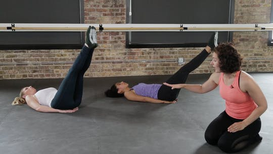 Instant Access to Core Series 4 - Long Legs Strong Core by The Barre Code, powered by Intelivideo