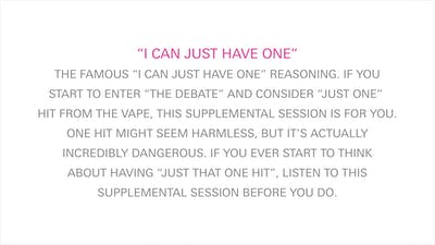 Vape Supplemental Session -