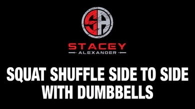 Squat Shuffle Side to Side with Dumbbells by Stacey Alexander