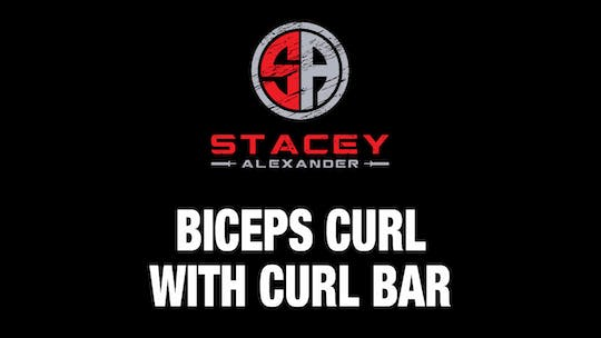 Instant Access to Bicep Curl with Curl Bar by Stacey Alexander, powered by Intelivideo