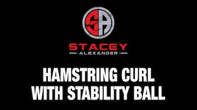 Hamstring Curls with Stability Ball by Stacey Alexander