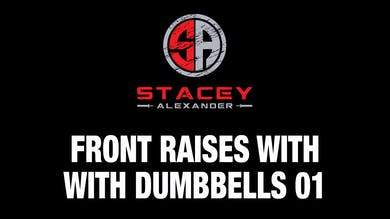 Front Raises with Dumbbells 01 by Stacey Alexander