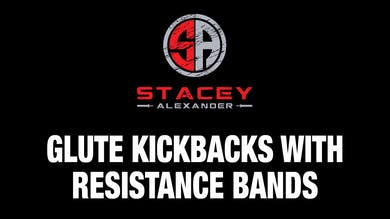 Glute Kickbacks with Resistance Bands by Stacey Alexander
