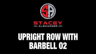 Upright Row with Barbell 02 by Stacey Alexander