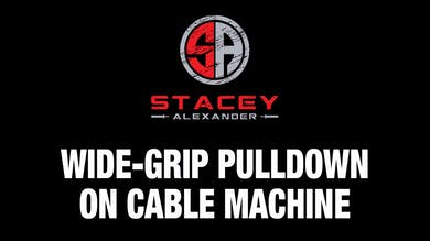 Wide-Grip Pulldown on Cable Machine by Stacey Alexander