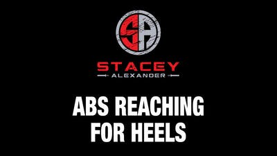 Abs Reaching for Heels by Stacey Alexander