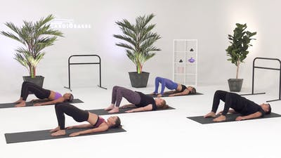 Instant Access to Glutes & Outer Thighs - Intermediate with Caroline by CARDIO BARRE, powered by Intelivideo