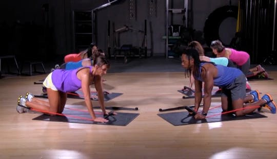 Instant Access to 14 Legs On The Floor by BodyGym, powered by Intelivideo