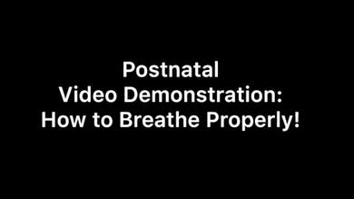 Postnatal breathing demonstration by Body Conceptions by Mahri Studios LLC