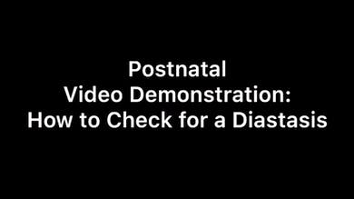 Postnatal diastasis demonstration by Body Conceptions by Mahri Studios LLC