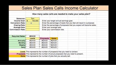 3: Sales Plan Calculator by TRUST® Training and Coaching