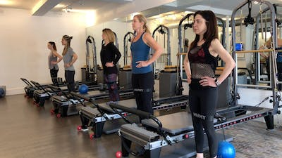 Reformer with Props: Standing Warmup - Bands by Zayna Gold Online
