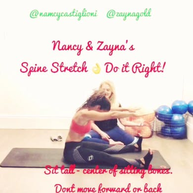 Spine Stretch Forward - Pro Tips by Zayna Gold Online